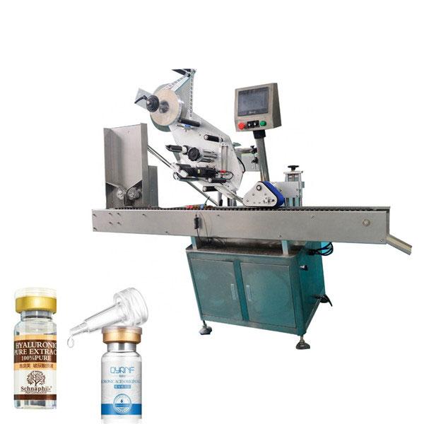 उच्च गति Sus304 अर्थव्यवस्था स्वचालित कार्टन शीर्ष र तल Vial Labeling मशीन