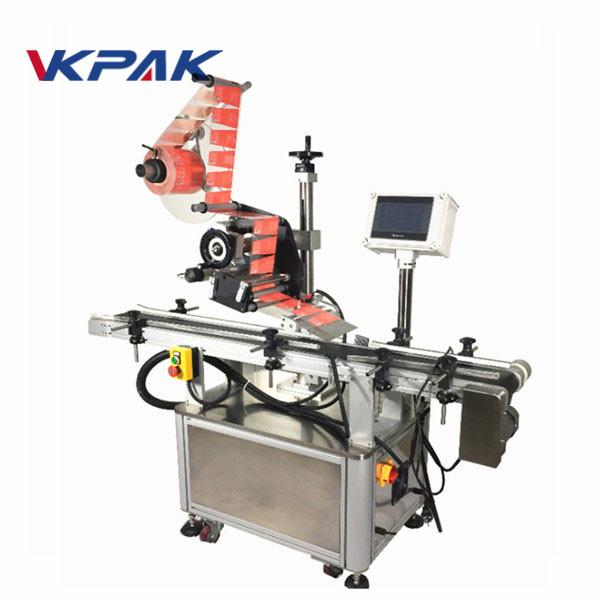 जारका लागि सेल्फ चिपकने शीर्ष लेबलिंग मेशीन