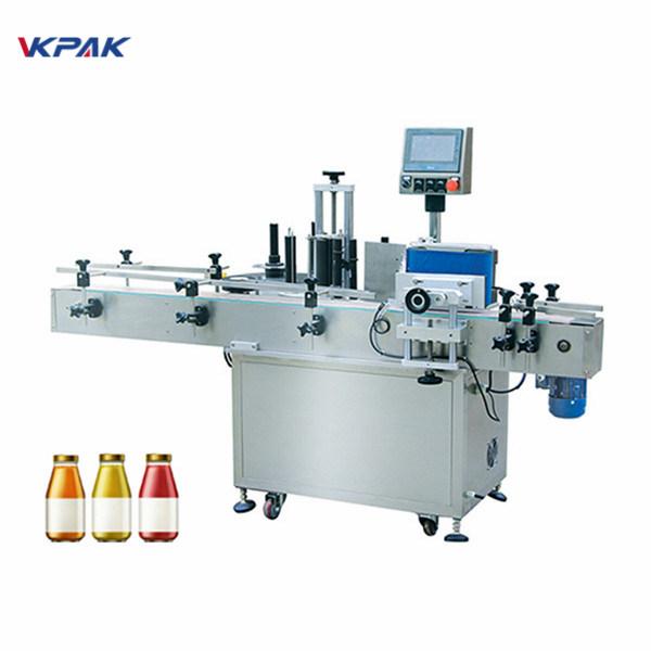 वाइन बोतल एक साइड स्वचालित राउन्ड बोतल लेबलिंग मेशीन