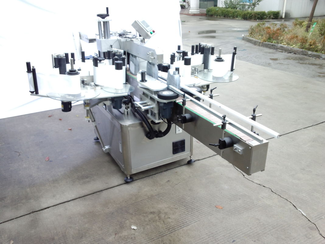 अगाडि र पछाडि साइडका साथ स्वचालित दुई साइड स्टिकर लेबलिंग मेशीन
