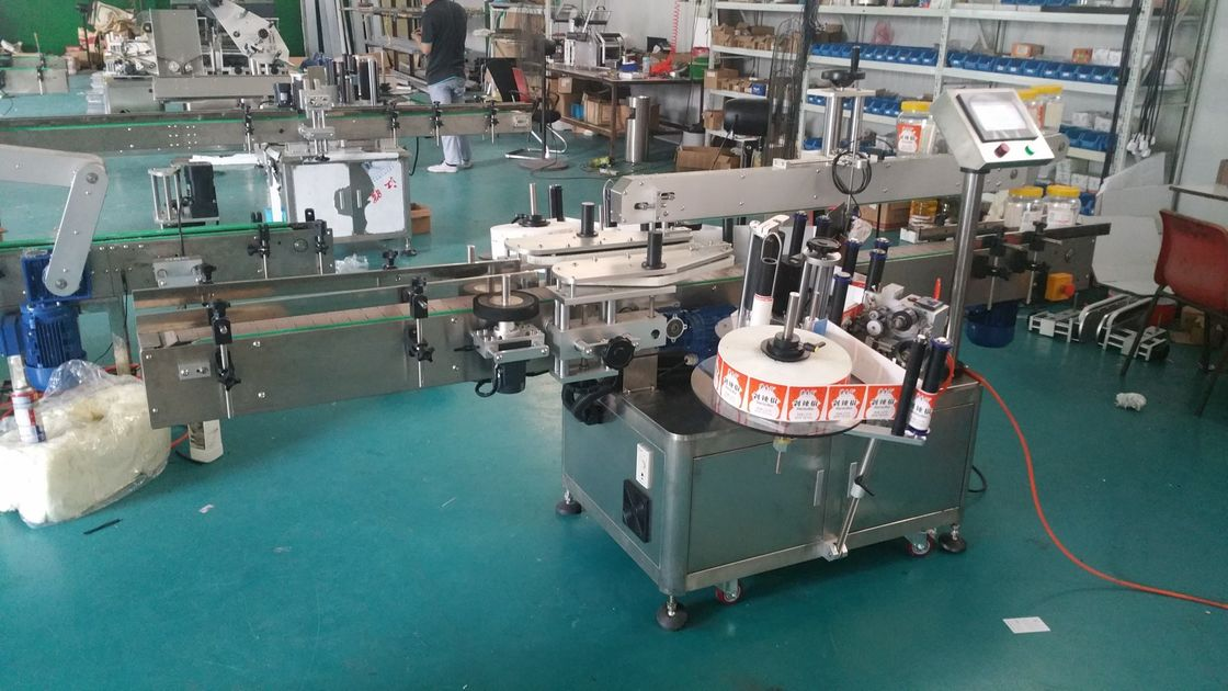 स्वचालित बोतल लेबलर डबल साइड स्टिकर लेबलिंग मेशीन