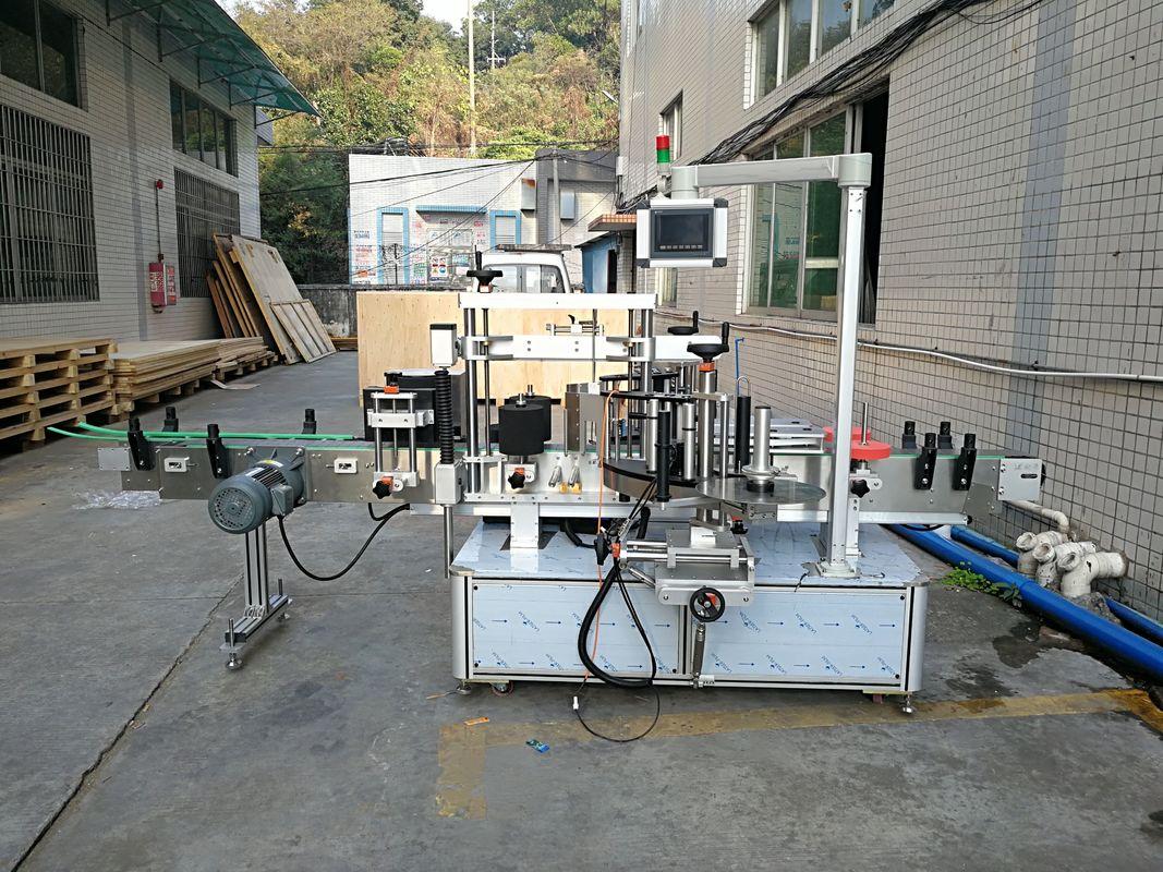 स्वचालित स्टीकर फ्लैट बोतल लेबलिंग मशीन एकीकृत फ्रन्ट र पछाडिको