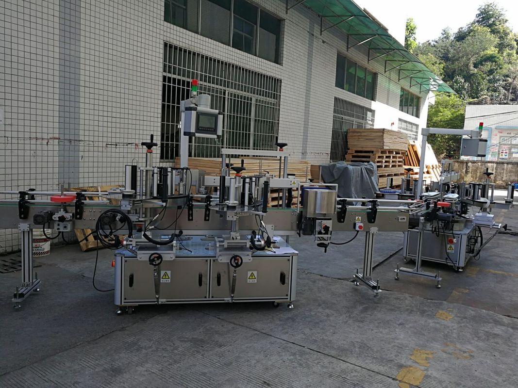 फ्ल्याट / वर्ग बोतल स्टिकर लेबलिंग मेशिन पूर्ण स्वचालित 5000-8000B / H क्षमता